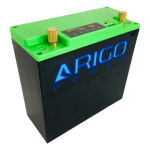 ARIGO Power LIFEPO4 DC Green Side Front View
