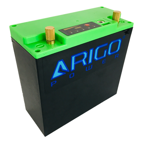 ARIGO Power LIFEPO4 DC Green Side Front View