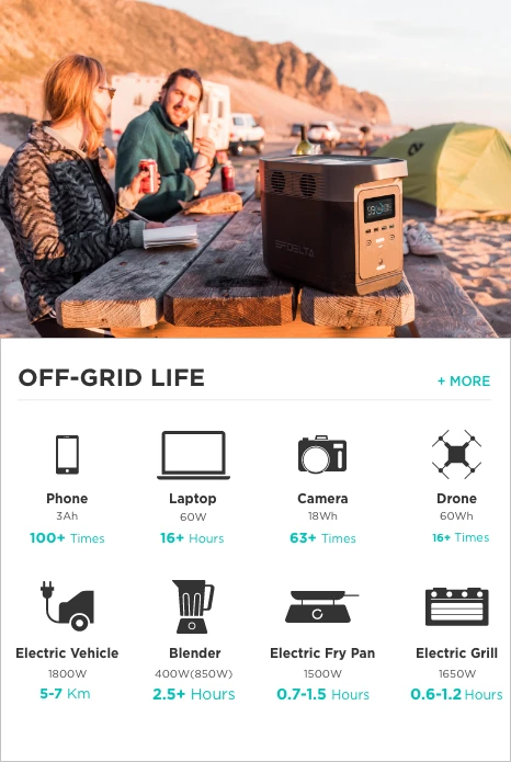 EcoFlow DELTA for Off-Grid Life